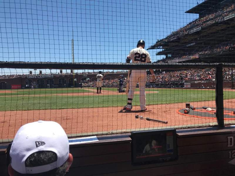 Seating view for Oracle Park Section Dc121 Row BBB Seat 3