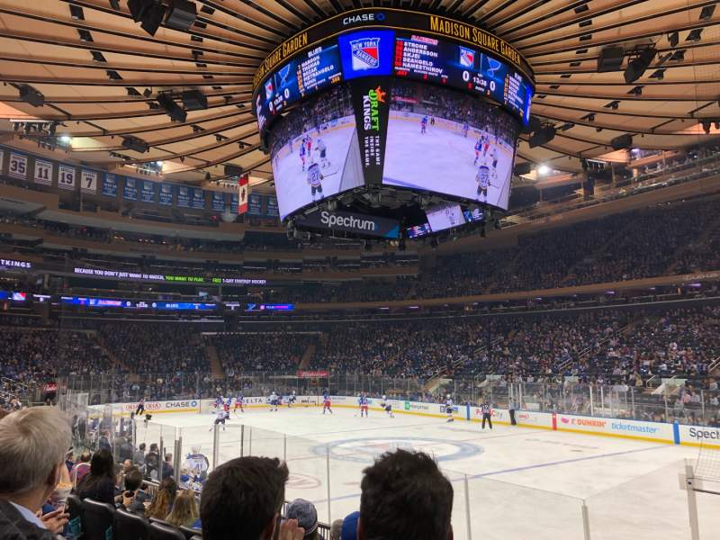 Seating view for Madison Square Garden Section 109 Row 8 Seat 16