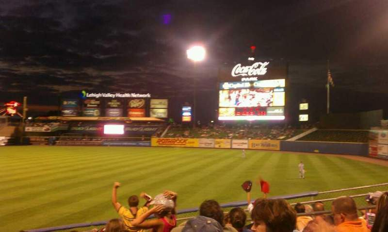 Seating view for Coca-Cola Park Section 102 Row T Seat 14