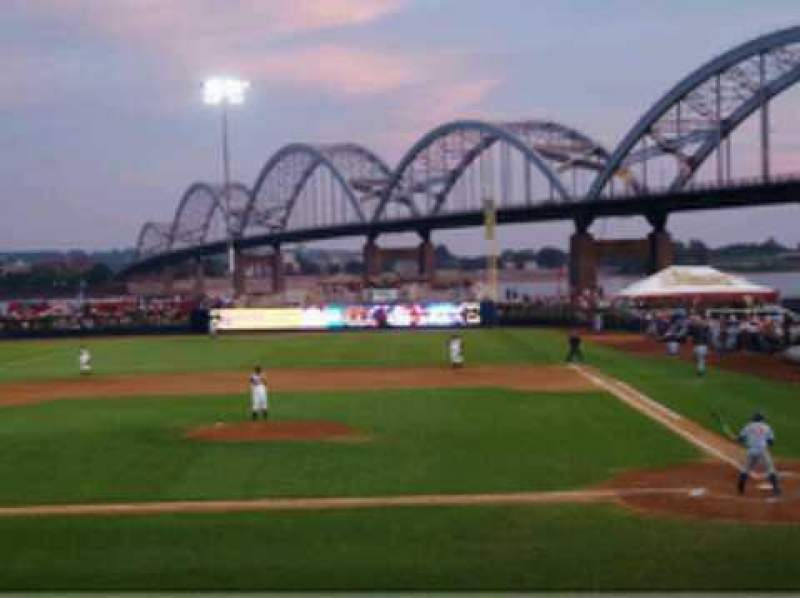 Seating view for Modern Woodmen Park Section 9