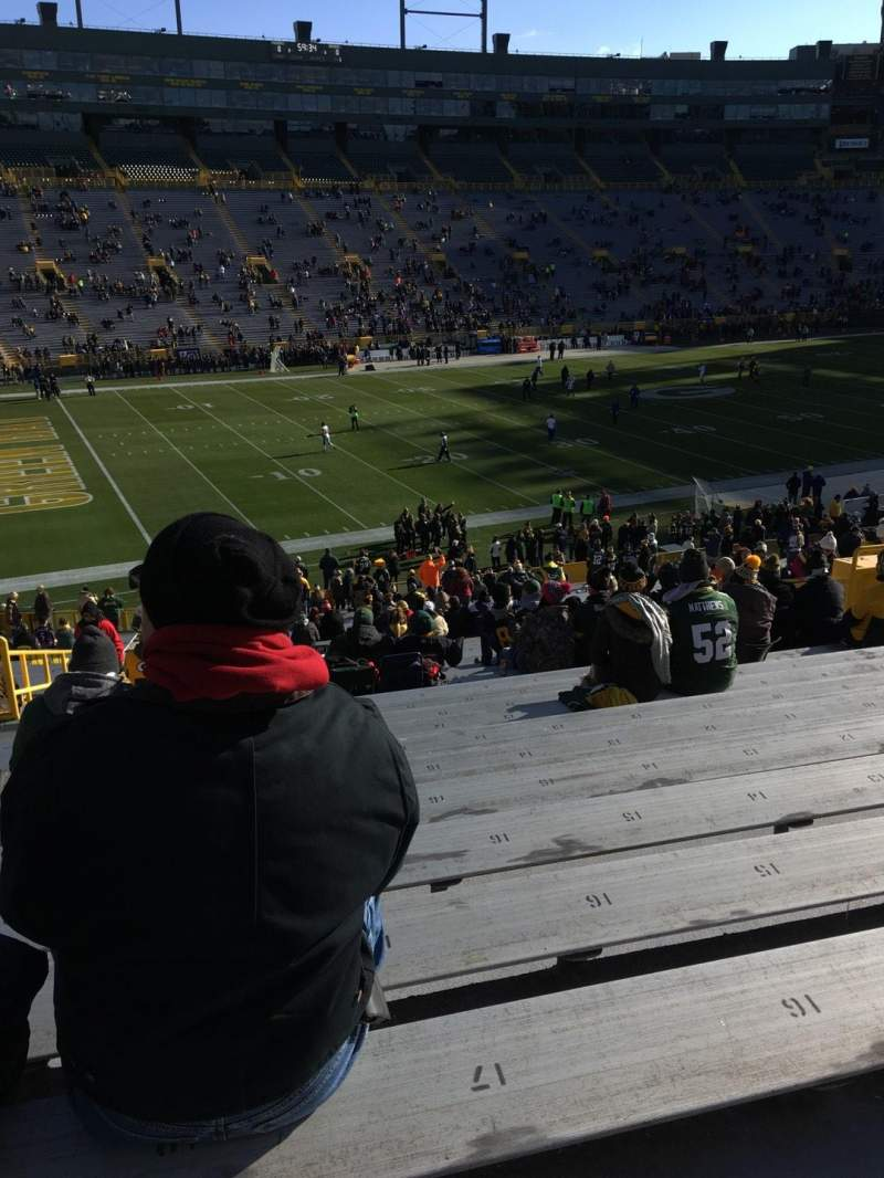 Seating view for Lambeau Field Section 112 Row 43 Seat 19