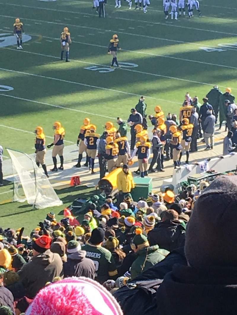 Lambeau Field, section: 112, row: 43, seat: 19