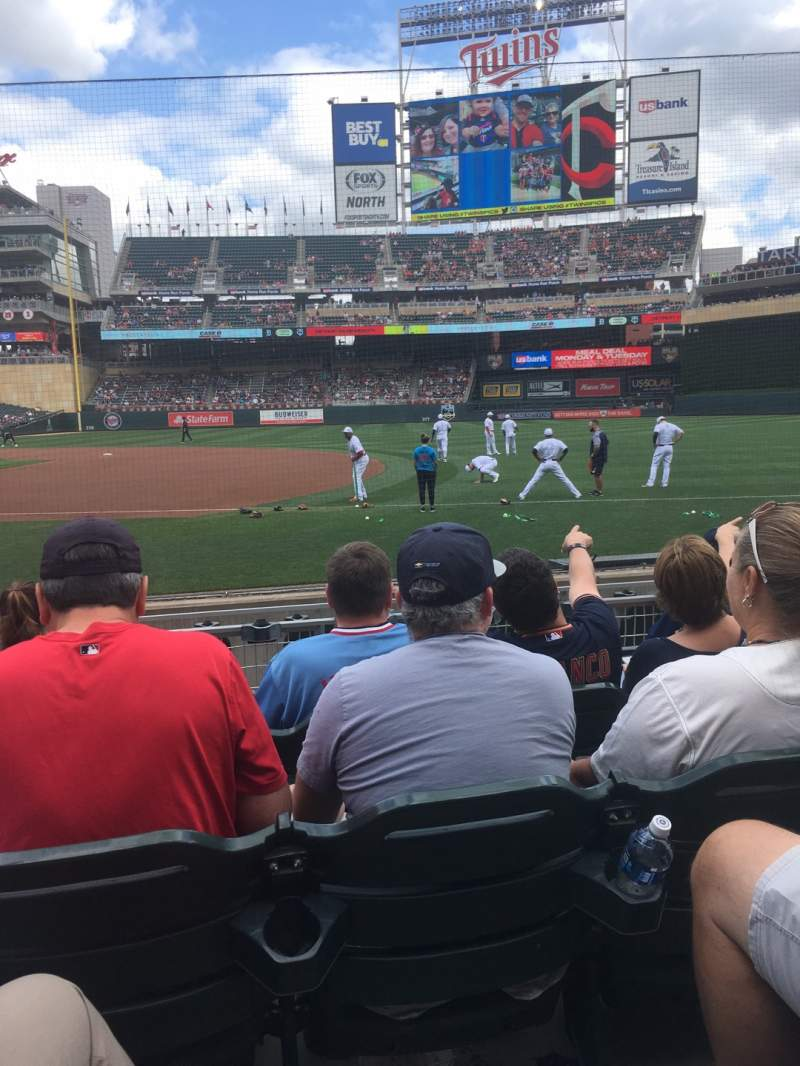 Seating view for Target Field Section 2 Row 8 Seat 6