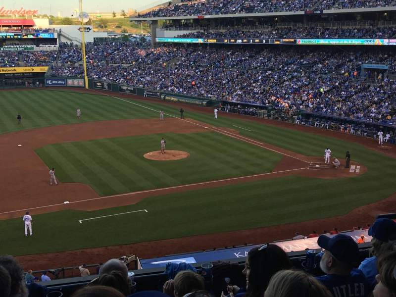 Kauffman Stadium, section: 305, row: E, seat: 8