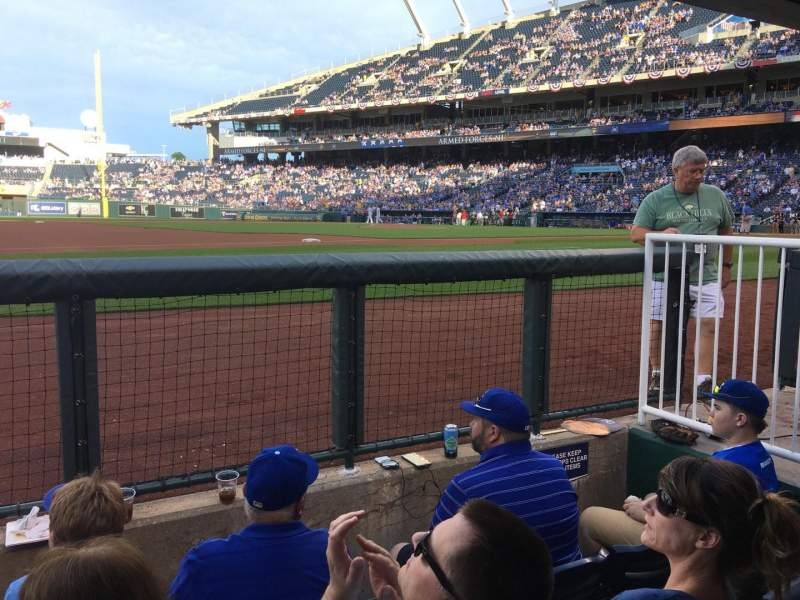 Seating view for Kauffman Stadium Section DUGSTE Row STE Seat 19