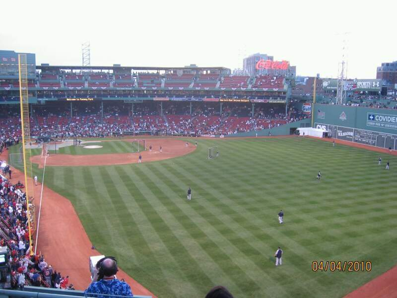 Seating view for Fenway Park Section Budweiser Roof Deck Row Table