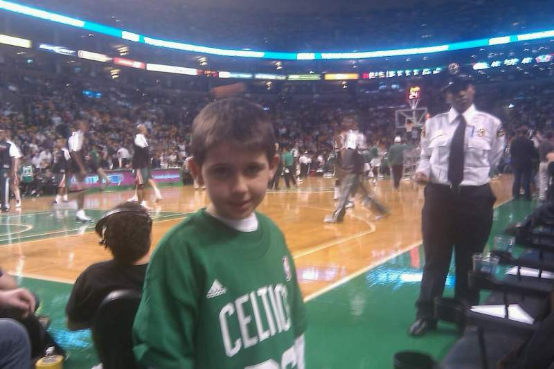 Seating view for TD Garden Section Floor 14 Row A