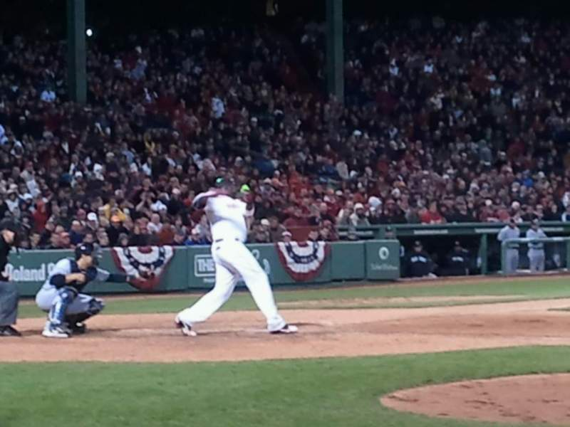 Seating view for Fenway Park Section Field Box 30 Row C