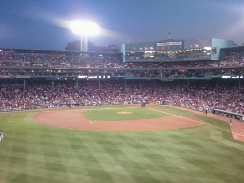 Seating view for Fenway Park Section Green Monster 7 Row 1 Seat 13