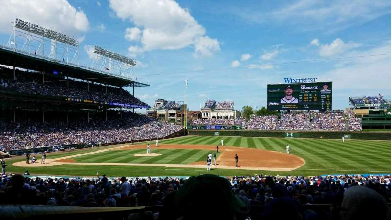 Seating view for Wrigley Field Section 225 Row 4 Seat 13