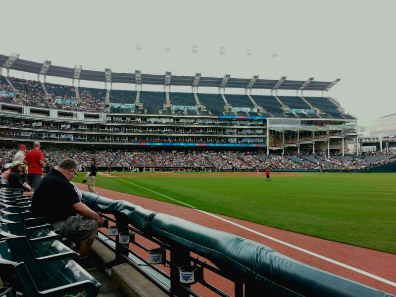 Seating view for Progressive Field Section 125 Row B Seat 22