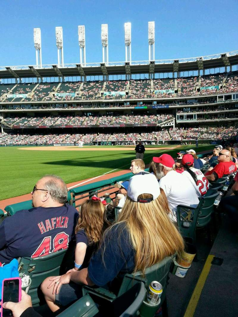 Seating view for Progressive Field Section 175 Row C Seat 4
