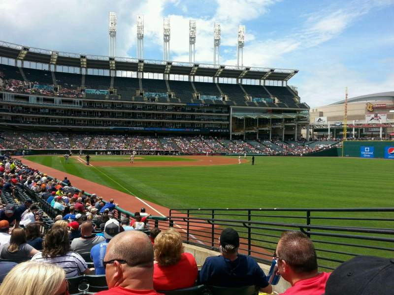 Seating view for Progressive Field Section 117 Row S Seat 3