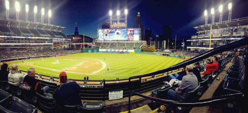 Seating view for Progressive Field Section 338 Row C Seat 1
