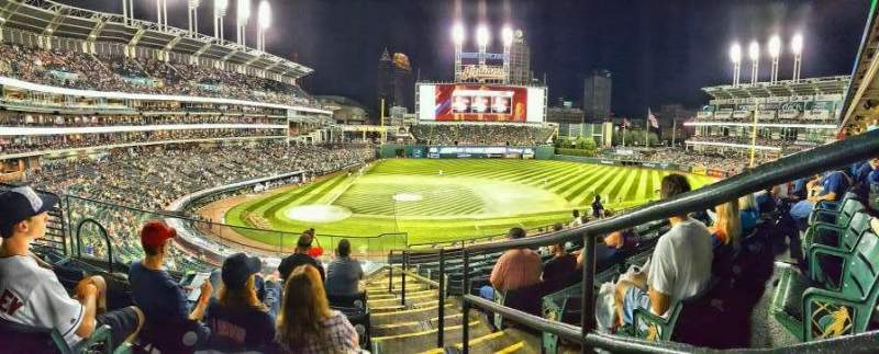 Seating view for Progressive Field Section 348 Row G Seat 1