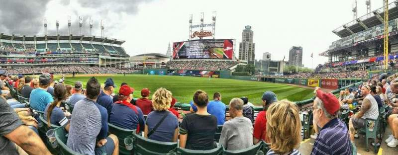 Seating view for Progressive Field Section 128 Row D Seat 3