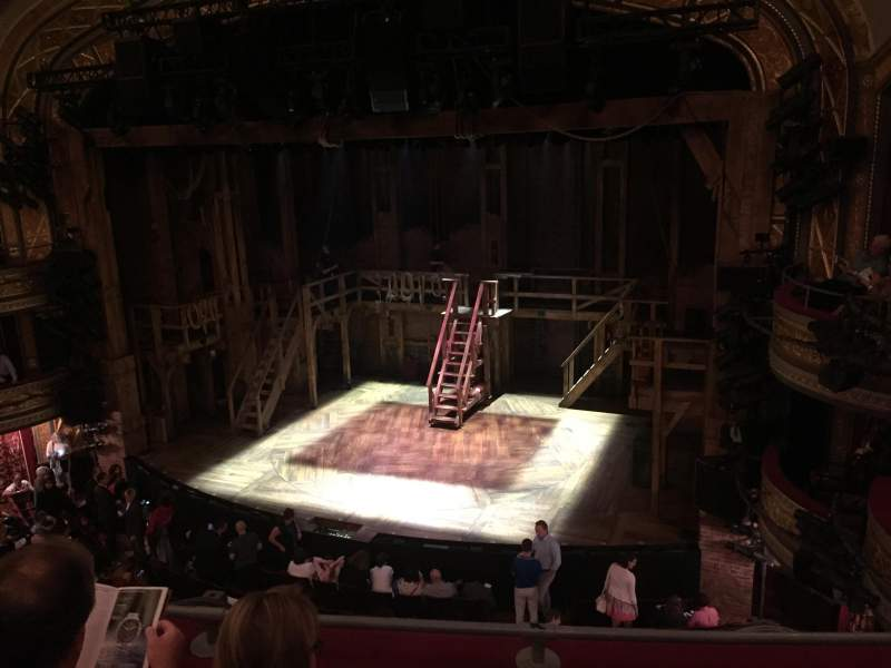Seating view for Richard Rodgers Theatre Section Front mezzanine Row C Seat 12