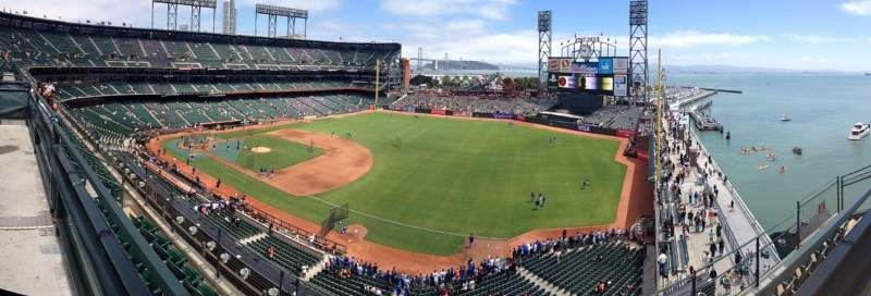 Seating view for Oracle Park Section VR302 Row 1 Seat 7