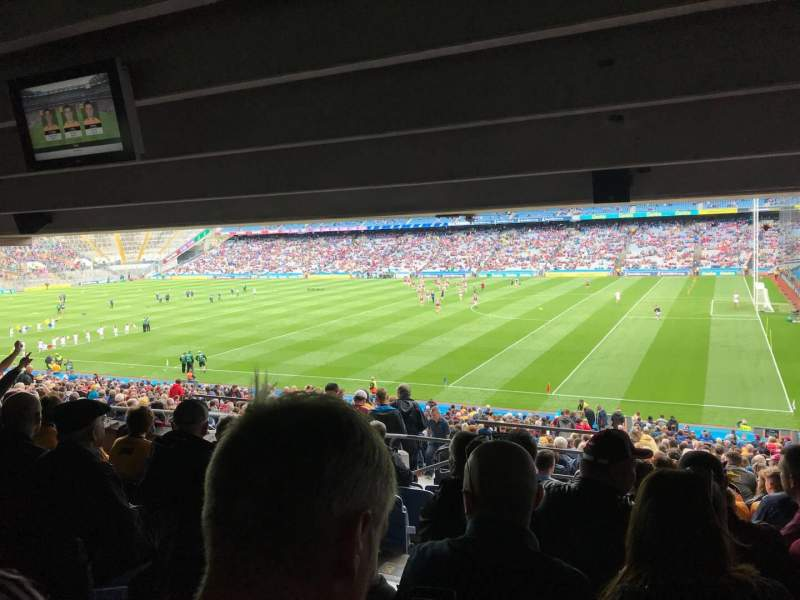 Seating view for Croke Park Section 327 Row WW Seat 12