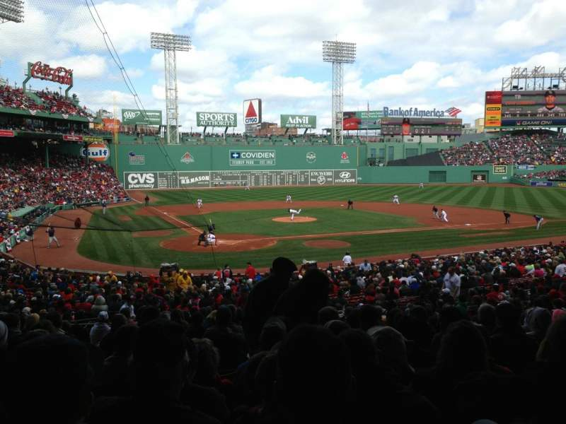 Seating view for Fenway Park Section Grandstand 18 Row 6 Seat 14