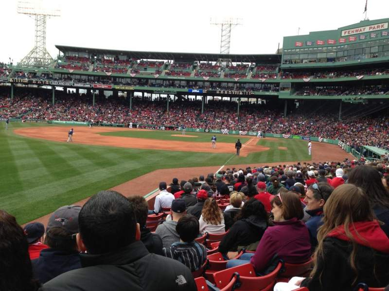 Seating view for Fenway Park Section Loge Box 163 Seat 1