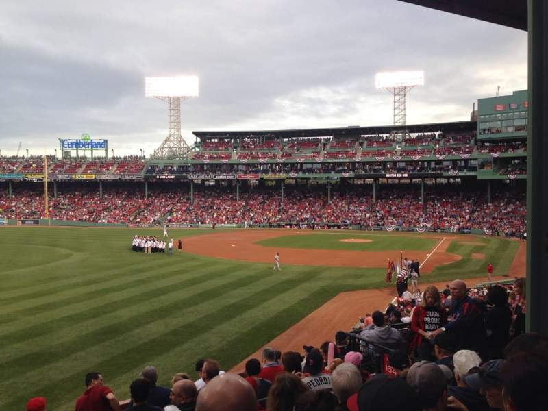 Seating view for Fenway Park Section Grandstand 33 Row 7 Seat 9