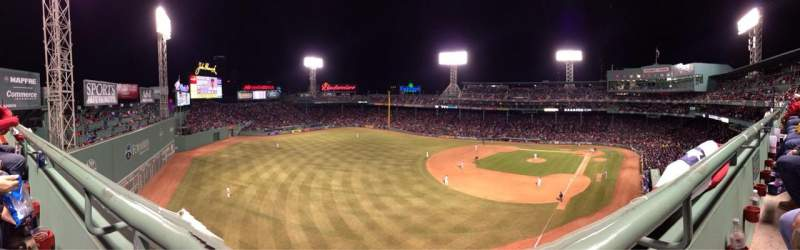 Seating view for Fenway Park Section Pavilion Reserves Row A Seat 11