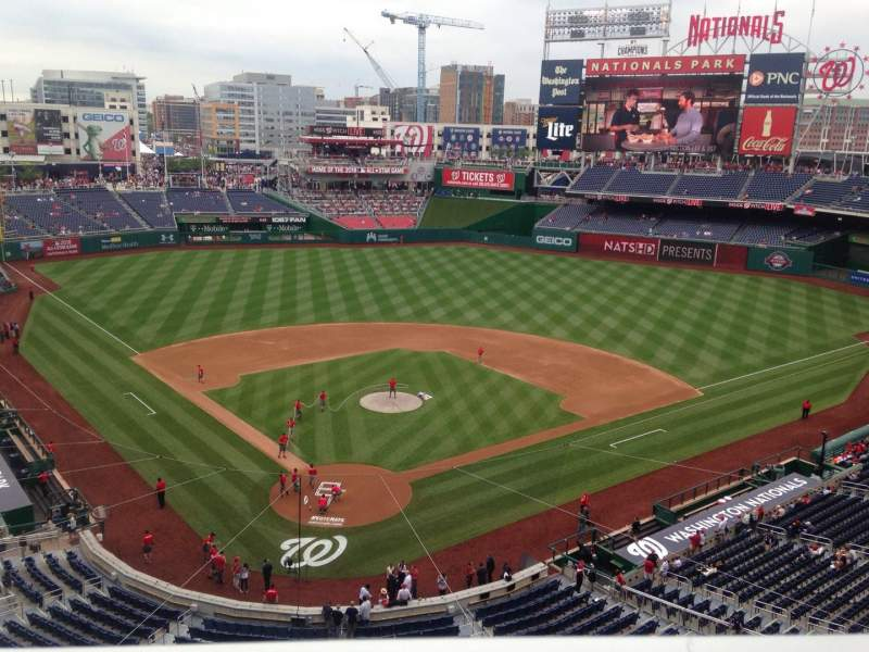 Seating view for Nationals Park Section 315 Row A Seat 17