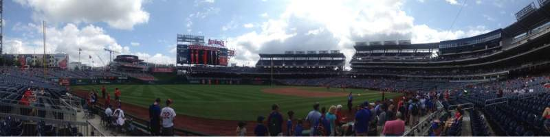 Seating view for Nationals Park Section 112 Row F Seat 1