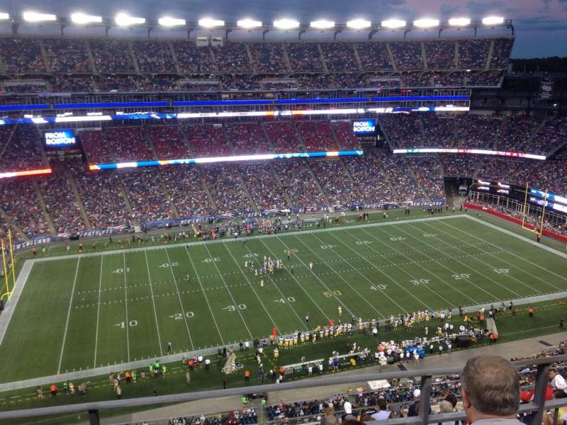 Seating view for Gillette Stadium Section 324 Row 10 Seat 15