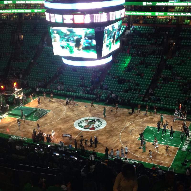 Seating view for TD Garden Section Bal 329 Row 14 Seat 11