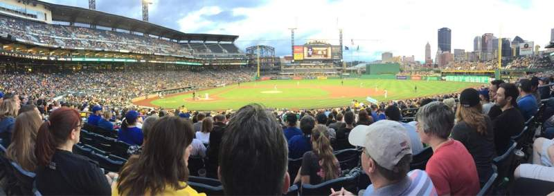 Seating view for PNC Park Section 112 Row M Seat 7