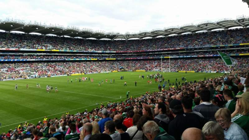 Seating view for Croke Park Section 335 Row JJ Seat 1