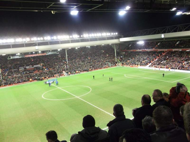 Anfield, section: CE7 (now Kenny Dalglish stand), row: 11, seat: 178