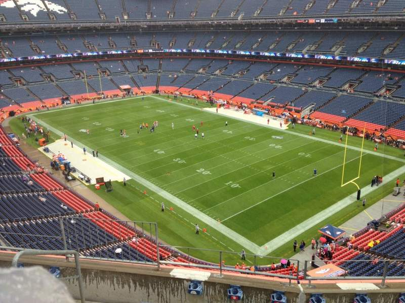 Seating view for Sports Authority Field at Mile High Section 500 Row 5 Seat 5