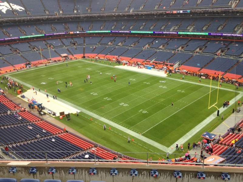 Seating view for Sports Authority Field at Mile High Section 501 Row 6 Seat 6