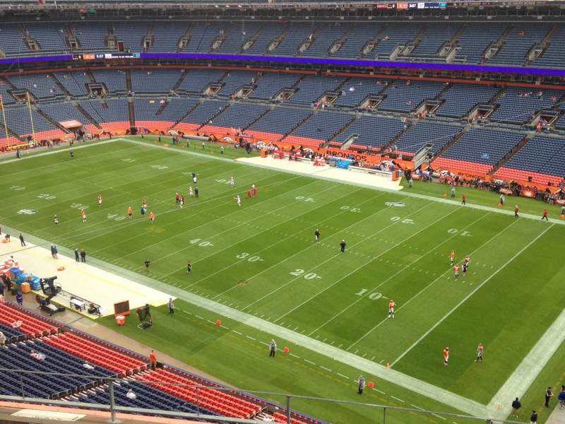 Seating view for Sports Authority Field at Mile High Section 502 Row 5 Seat 10