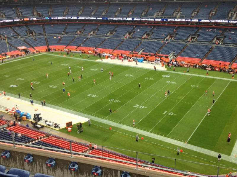 Seating view for Sports Authority Field at Mile High Section 503 Row 5 Seat 7
