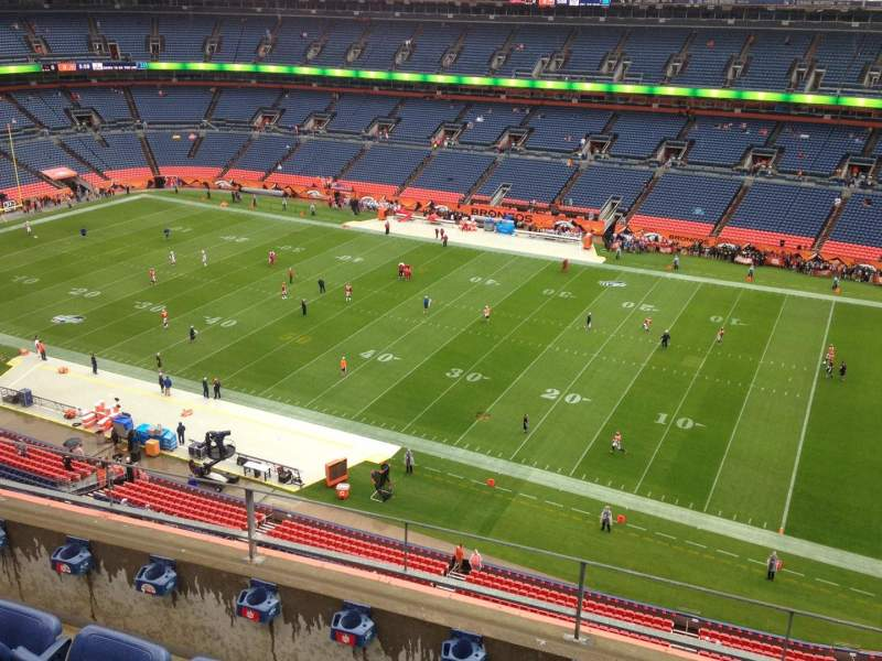 Seating view for Sports Authority Field at Mile High Section 504 Row 4 Seat 15