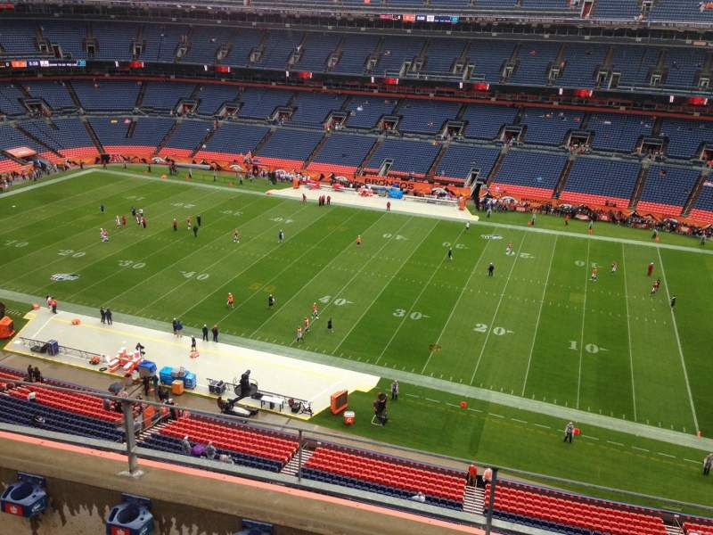 Seating view for Sports Authority Field at Mile High Section 505 Row 3 Seat 13