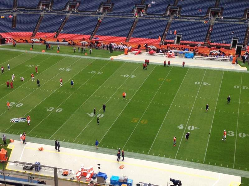 Seating view for Sports Authority Field at Mile High Section 507 Row 8 Seat 11