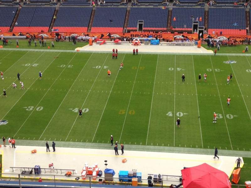 Seating view for Sports Authority Field at Mile High Section 508 Row 10 Seat 6