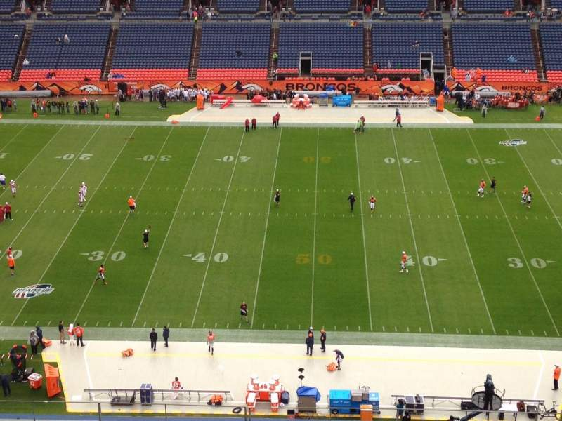 Seating view for Sports Authority Field at Mile High Section 509 Row 8 Seat 4