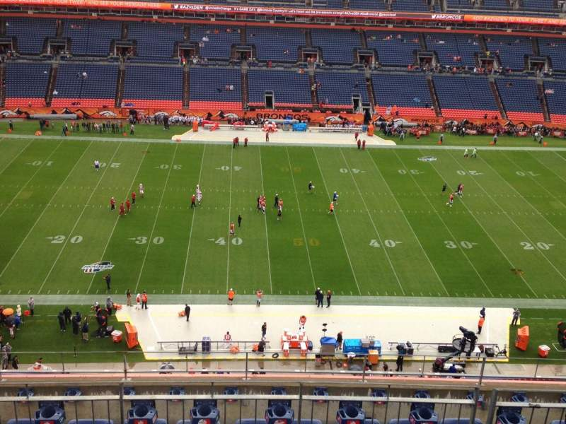 Seating view for Sports Authority Field at Mile High Section 510 Row 9 Seat 7