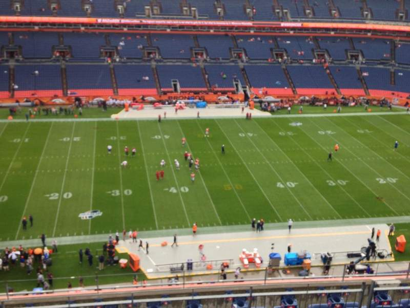 Seating view for Sports Authority Field at Mile High Section 511 Row 7 Seat 1