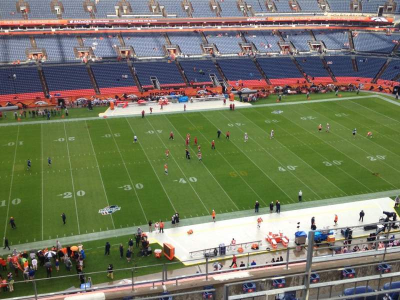 Seating view for Sports Authority Field at Mile High Section 512 Row 8 Seat 5