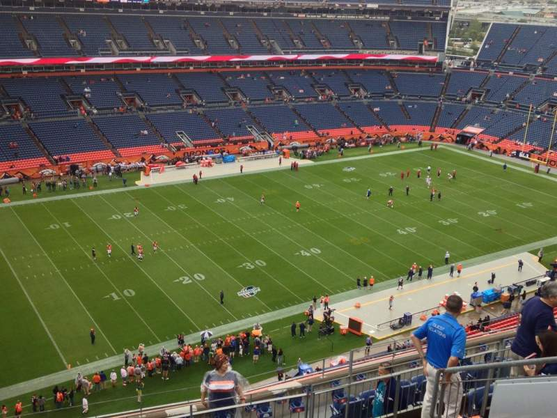 Seating view for Sports Authority Field at Mile High Section 514 Row 9 Seat 13
