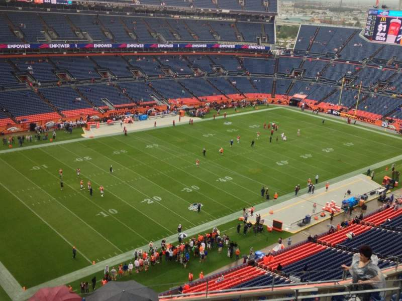 Seating view for Sports Authority Field at Mile High Section 515 Row 12 Seat 5