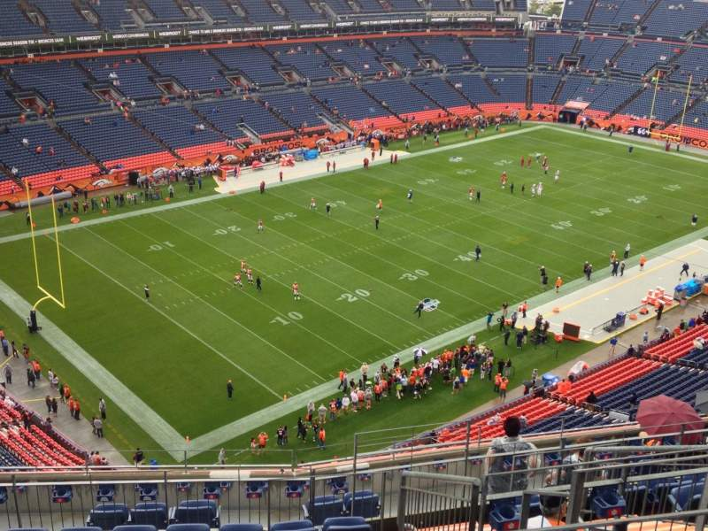 Seating view for Sports Authority Field at Mile High Section 516 Row 12 Seat 7