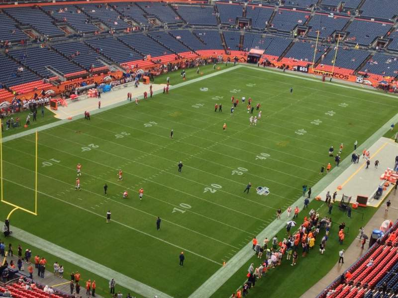 Seating view for Sports Authority Field at Mile High Section 518 Row 12 Seat 11